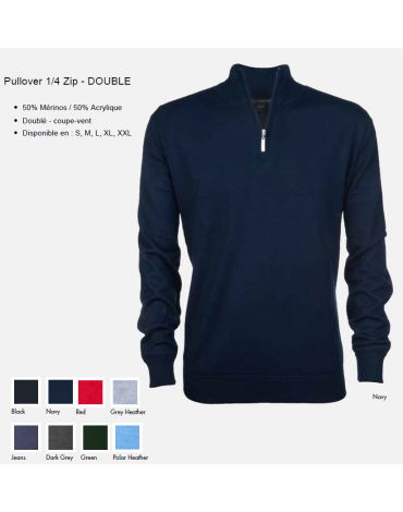 Greg Norman Pull 1/4 ZIP- DOUBLE