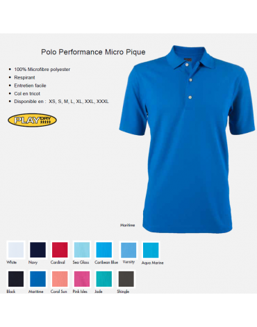 Greg Norman POLO PERFORMANCE- no disponible en España/Portugal