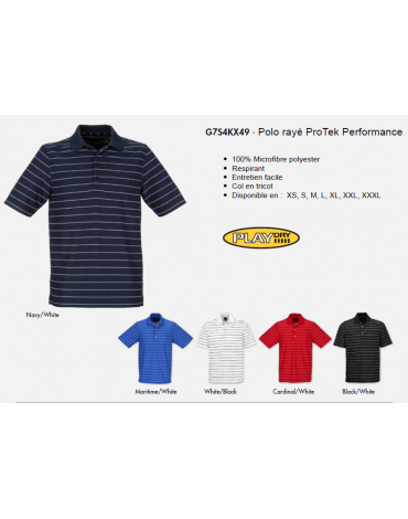Greg Norman POLO PERFORMANCE- RAYE PROTEK