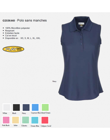 Greg Norman POLO sans manche - no disponible en España/Portugal