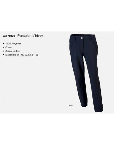 Greg Norman Pantalon d'hiver - Coupe vent - Femme