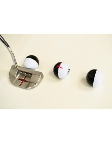EYELINE GOLF Set of 3 balls bicolour