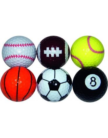 Longridge balles sport fantaisie (x6)