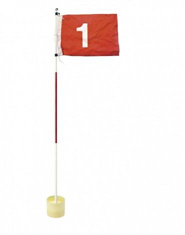 Bandera con hoyo