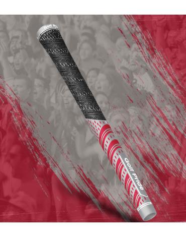 Golf pride Grip multi-compound Team - Estándar - Gris y Rojo
