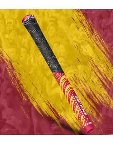 Golf pride Grip multi-compound Team - Estándar - Rojo y Amarillo